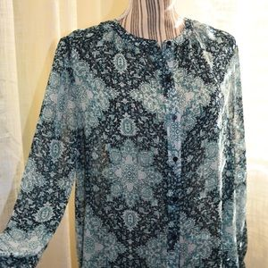 Lucky Brand Blouse Boho Pattern in light fabric